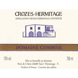 """Domaine Combier Crozes-Hermitage """"Domaine"""" blanc sec 2018 etiquette"""