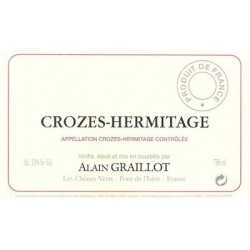 Domaine Alain Graillot Crozes Hermitage rouge 2017 etiquette