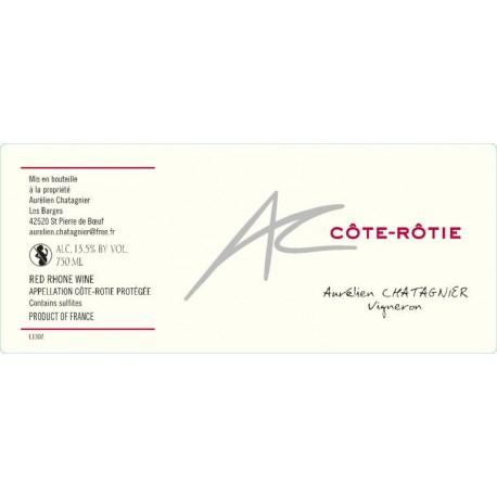 Cote Rotie Aurelien Chatagnier 2017 etiquette