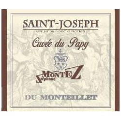 """Domaine du Monteillet (Stephane Montez) Saint-Joseph """"Cuvée du Papy"""" rouge 2017 etiquette"""