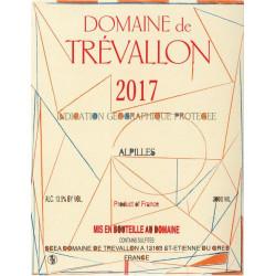Domaine de Trévallon blanc 2017 etiquette