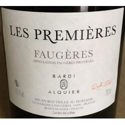 """Domaine Bardi d'Alquier Faugeres """"Les Premieres"""" red 2016"""