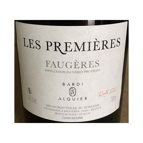 Domaine Bardi d'Alquier Faugeres Les Premieres 2016 etiquette