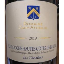"""Domaine Camp-Atthalin Hautes Côtes de Beaune """"Les Chevrières"""" rouge 2018 etiquette"""