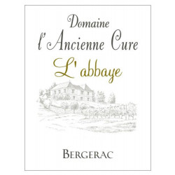 """Domaine de l'ancienne Cure Bergerac """"L'Abbaye"""" rouge 2016 etiquette"""