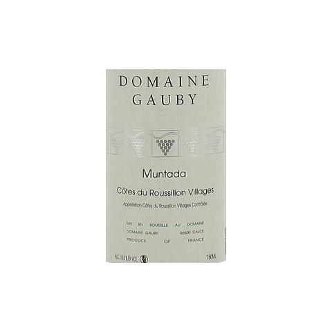 Domaine Gauby Muntada rouge 2010 etiquette