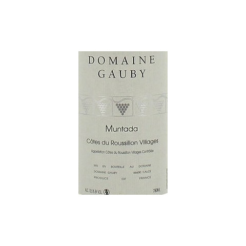 "Domaine Gauby ""Muntada"" red 2011"