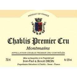 Domaine J-P et Benoit Droin Chablis 1er Cru Montmains 2018 etiquette