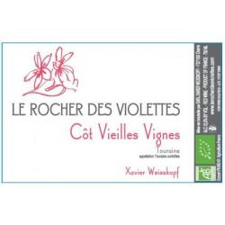 """Le Rocher des Violettes Touraine """"côt vieilles vignes"""" rouge 2018 etiquette"""