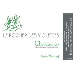 """Le Rocher des Violettes """"Chardonnay"""" blanc 2017 etiquette"""