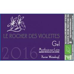 """Le Rocher des Violettes Montlouis """"Gel"""" 2016 etiquette"""