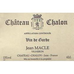 Domaine Jean Macle Chateau Chalon vin jaune 2011 etiquette