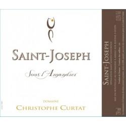 """Domaine Christophe Curtat Saint-Joseph """"Sous l'amandier"""" 2018 etiquette"""