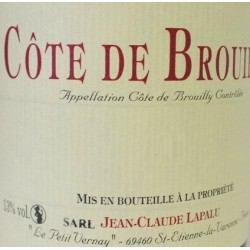 Domaine Jean-Claude Lapalu Cote de Brouilly red 2018