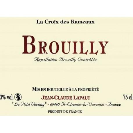 Domaine Jean-Claude Lapalu Brouilly La croix des Rameaux 2018 etiquette