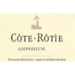"Domaine Rostaing Côte-Rôtie ""Ampodium"" rouge 2017 etiquette"