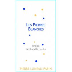 """Domaine Luneau-Papin Muscadet Sèvre et Maine """"Les Pierres Blanches"""" blanc sec 2017 etiquette"""