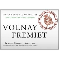Domaine Marquis d'Angerville Volnay 1er Cru Fremiet 2017 etiquette