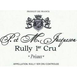 Domaine Paul et Marie Jacqueson Rully 1er Cru Preaux rouge 2018 etiquette
