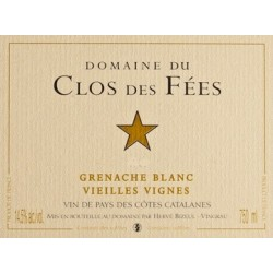 Clos des Fees grenache blanc Vieilles Vignes 2017 etiquette