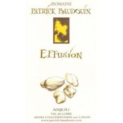 """Domaine Patrick Baudouin """"Effusion"""" blanc sec 2018 etiquette"""