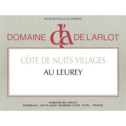 Domaine de l'Arlot Cote de Nuits Villages Au Leurey blanc 2017 etiquette