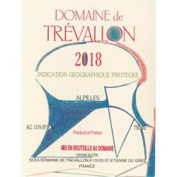 Domaine de Trévallon blanc 2018 etiquette