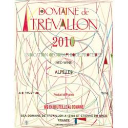 Domaine de Trévallon rouge 2010 etiquette