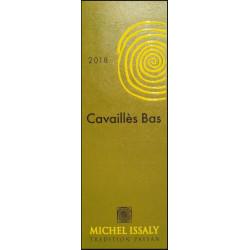 """Michel Issaly """"Les Cavaillès Bas"""" blanc sec 2018 etiquette"""