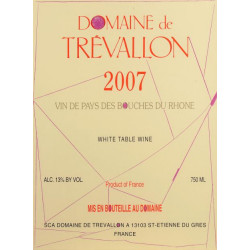 Domaine de Trevallon rouge 2007 magnum etiquette