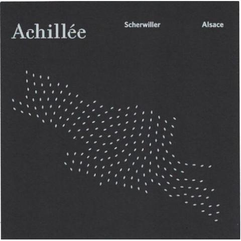 """Domaine Achillée Alsace Riesling """"Scherwiller"""" blanc sec 2017 2018 etiquette"""