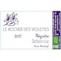 Le rocher des violettes xavier weisskopf Montlouis la négrette 2018 etiquette