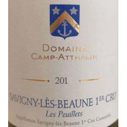 """Domaine Camp-Atthalin Savigny-Les-Beaune 1er Cru """"Les Peuillets"""" rouge 2018 etiquette"""