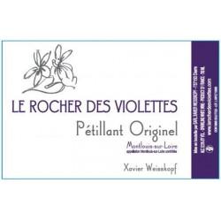 """Le Rocher des Violettes Montlouis """"Pétillant originel """" 2017 etiquette"""