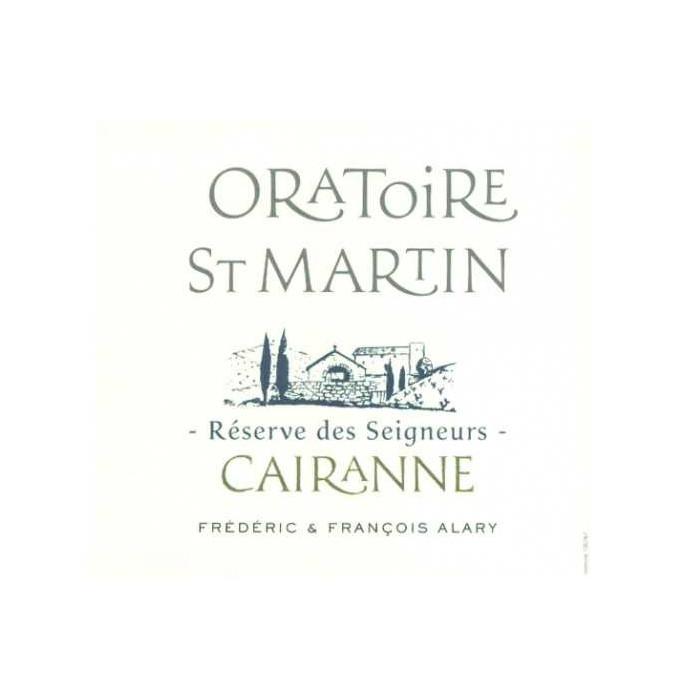 """Domaine de l'Oratoire Saint-Martin """"Réserve des Seigneurs"""" rouge 2018"""
