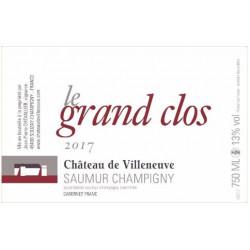 """Château de Villeneuve Saumur-Champigny """"Le Grand Clos"""" rouge 2017 etiquette"""