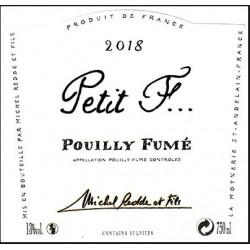 """Domaine Michel Redde et fils Pouilly-Fumé """"Petit F"""" blanc sec 2018 etiquette"""