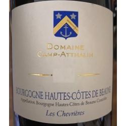 """Domaine Camp-Atthalin Hautes Côtes de Beaune """"Les Chevrières"""" rouge 2019 etiquette"""