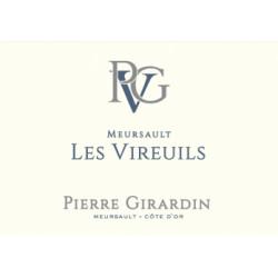 """Domaine Pierre Girardin Meursault """"Les Vireuils"""" blanc sec 2018 etiquette"""