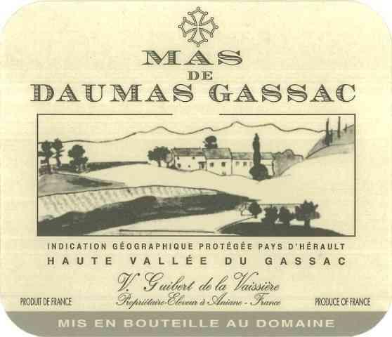 étiquette du Mas de Daumas Gassac