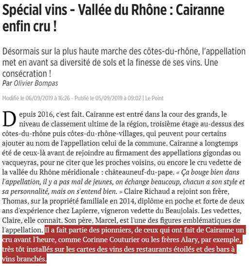 oratoire-saint-martin-article-le-point-sept-2019-cairanne